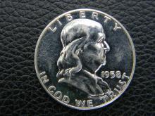 1958 Proof Ben Franklin Half Dollar