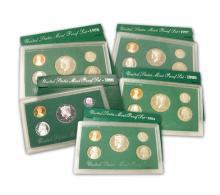 Group lot 4 United States Mint Proof Sets 1994, 1996, 1997, & 1998