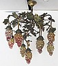 Rare C1900 Bronze decorated chandelier
