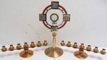 Mid 20th C. Art Deco Candelabras and Reliquary