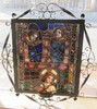 Ea. 19th C. Leaded and stained glass window