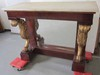 Mahogany marble top American pier table
