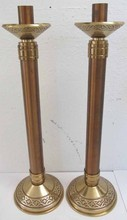 Pr. 20th C. Bronze candlesticks