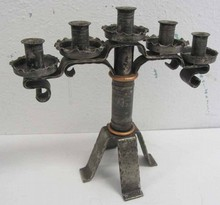 Ea. 20th C. Iron candelabra