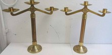 Pr. Bronze candelabras with decoration