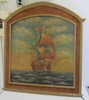 19th C. Painting of ship signed P. Kinnear