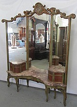 C1900 French style marbletop vanity