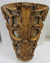 19th C. detail carved giltwood hanging planter