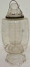 Rare Ea. 19th C. glass lemonade cooler