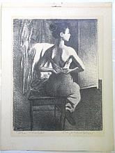 RAPHAEL SOYER - THE MODEL SIGNED LITHOGRAPH