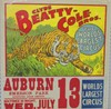 BUTLER - CLYDE BEATTY COLE BROS TIGER CIRCUS POSTE