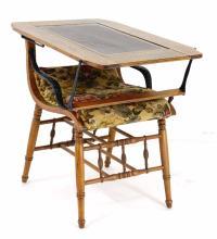 Antique Oak Chair Table