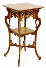 Ornate Carved Oak Side Table