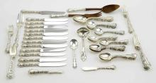 Brunner Bros. Sterling Flatware Set