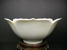 A Beautiful and Rare White Glaze Porcelain Bowl