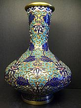 A Beautiful and Rare Copper Body Cloisonn YUHUCHUNPING Vase