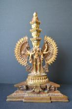 A Finely 17th/18th C Gilt Buddha Statue Christies--H:29.3cm