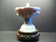 A Yuan Dynasty Extremely Rare Chinese Copper Red Porcelain Lamp