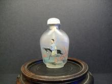 A Fine Chinese Inside Painted Glass Snuff Bottle--H:6.1cm.