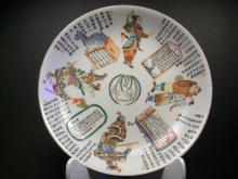 A Fine & Rare Chinese Famille Rose Porcelain Dish--21.3cm x 3.8cm.