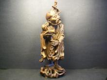 A Finely Chinese Wood Carved Immortals