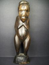 Makonde Carved Ebony Statue---H:28 cm.