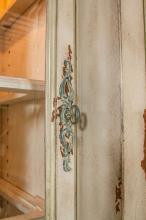 Two-Piece Paint Decorated China Cabinet or Breakfront
