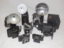 Lot of 9 Antique & Vintage Cameras