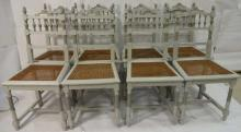 Set of 8 Vintage Swedish Style Dining Side Chairs