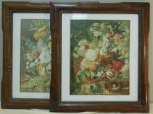 Pair of Joseph Niggs Floral Still Life Lithographs