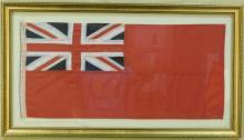 Banner Flag w/ Union Jack British Flag in Corner