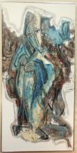 H. C. Kingall Acrylic Figural Abstract on Canvas