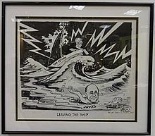 Herc Ficklen Jacob Javits JFK Political Caricature