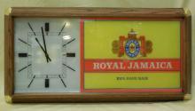Vintage Royal Jamaica Cigars Advertisement Clock
