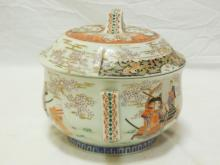 Antique Chinese Painted Porcelain Chamber Pot