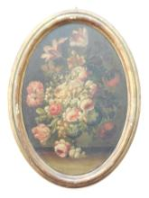 19th C. Oil on Panel Continental Floral Still Life