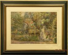 ED RUMELHART - Watercolor of Schonbrunn Palace