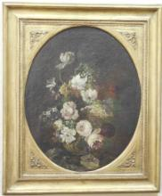 18th Century Floral Still Life, Unsigned