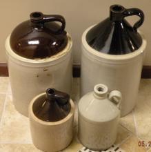 Collection of Stoneware Glazed Crocks & Jugs
