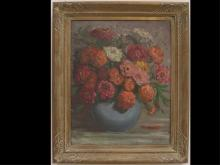 Schaffer - Still Life with Flowers Oil on Canvas