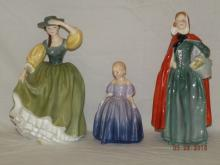 Collection of 3 Royal Doulton Porcelain Figurines