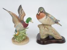 2 Painted Porcelain Bisque Ducks Cybis Sadek