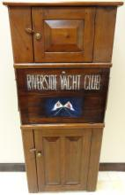 Modernist Cabinet with Riverside Yacht Club Logo