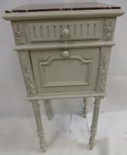 Vintage Swedish End Table with Marble Top