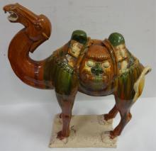 19th Century Ceramic Camel Sculpture