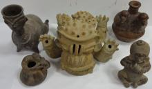 Lot- 5 Terracotta (or Similar Material) Sculptures