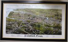 Large Color Map of Stamford, Connecticut