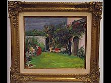 Landscape with Garden- Albert Mohr- Oil on Canvas