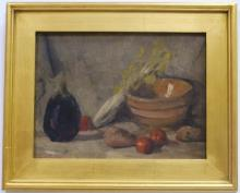 Still Life with Fruit- Emil Carlsen- Oil on Board