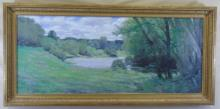 Allan Banks - Oil on Canvas Landscape w/ Lake